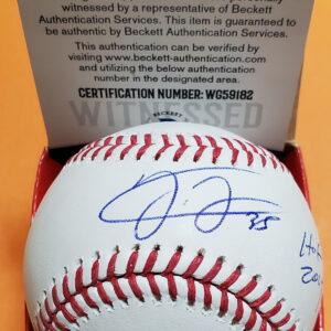 Frank Thomas OMLB Selig Autographed Baseball with Beckett COA
