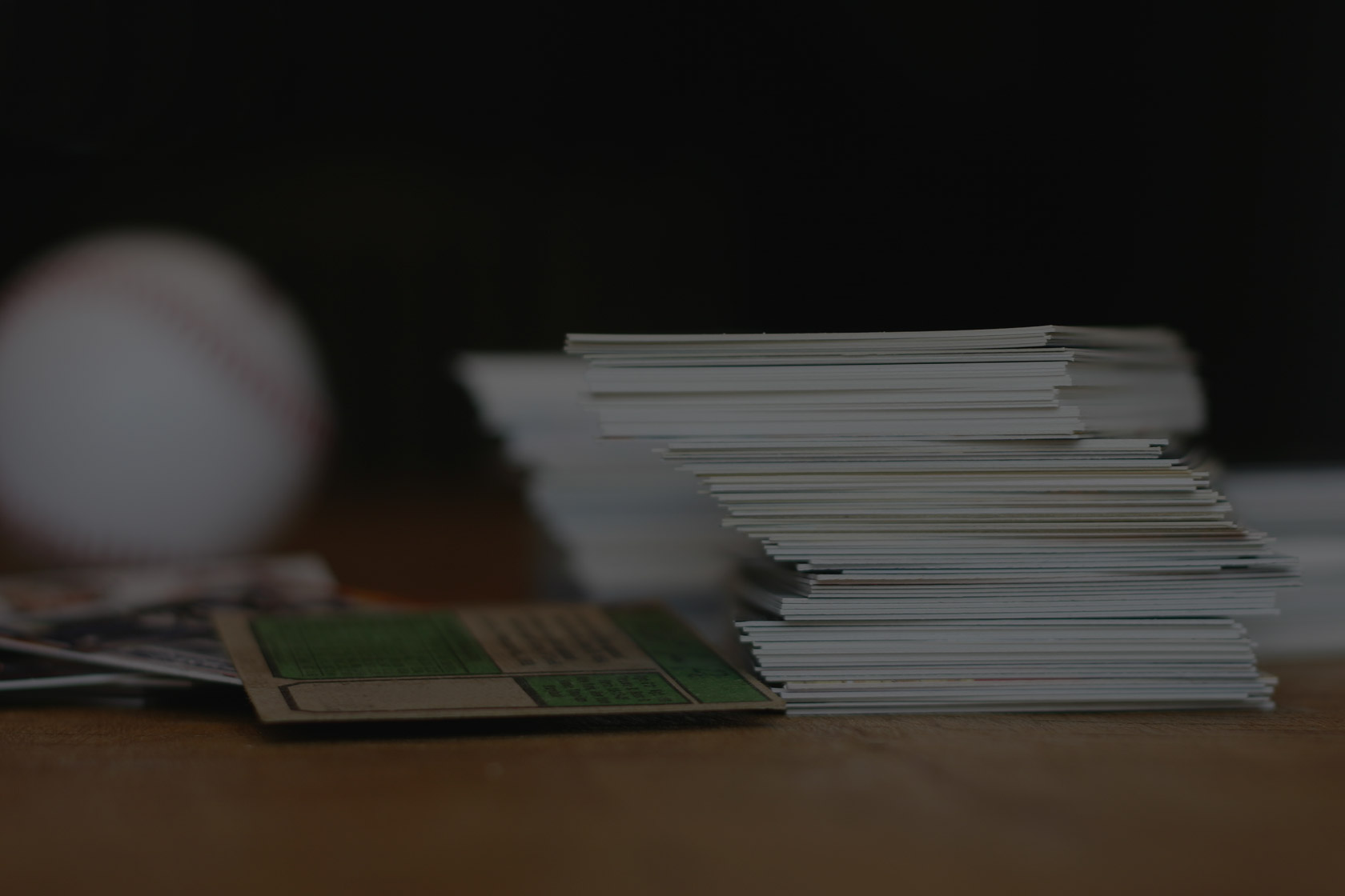 stack of baseball cards