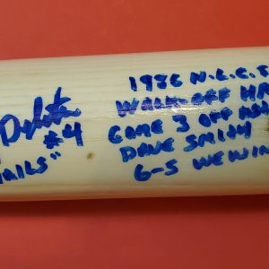 Lenny Dykstra 1986 NLCS Autographed Louisville Slugger Bats 2