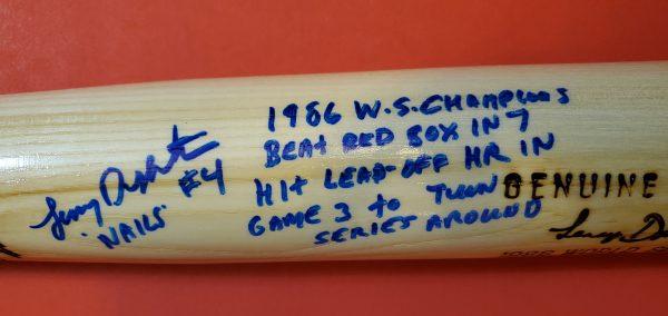 Lenny Dykstra 1986 World Series Autographed Louisville Slugger Bats 2