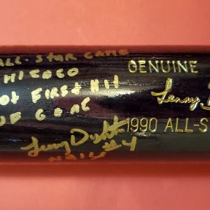 Lenny Dykstra 1990 All Star Game Autographed Louisville Slugger Bats 3