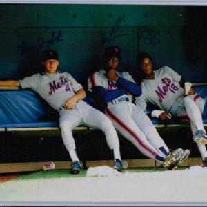 Lenny Dykstra Dwight Gooden Darryl Strawberry Autographed 8x10 Mets