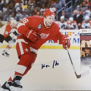 Vladimir Konstantinov Detroit Red Wings Autographed 8x10 Action Photo