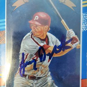Lenny Dykstra Autographed 1991 Donruss Diamond King Card