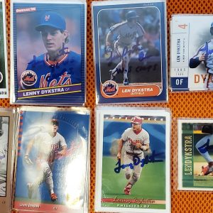 Lenny Dykstra Autographed Cards CHOOSE METS OR PHILLIES