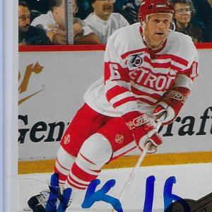 Vladimir Konstantinov 1992 Upper Deck All-World Team 5 Autographed Card