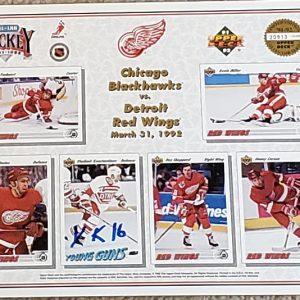 Vladimir Konstantinov Detroit Red Wings Autographed Upper Deck Commemorative Sheet