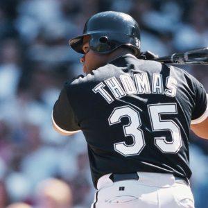 Frank Thomas Autographed 11x14 Batting 35 Photo
