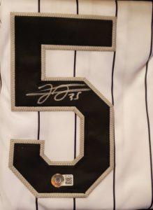 Frank Thomas Autographed Custom Pinstripe Jersey 1