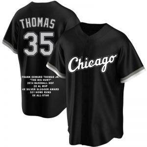 Frank Thomas Custom Chicago Black Career Stat Jersey