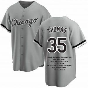 Frank Thomas Custom Chicago Gray Career Stat Jersey