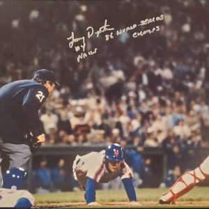Lenny Dykstra Autographed 11x14 Photo Inscription 1986 World Series Champs Nails SILVER 2