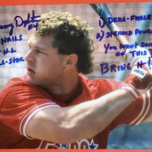 Lenny Dykstra Autographed 11x14 Photo Inscription 3X 2X 1993 Drug Steroid Bring It
