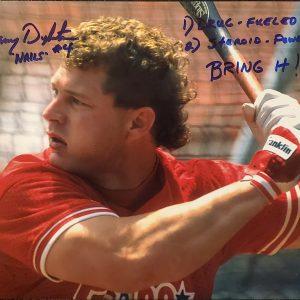 Lenny Dykstra Autographed 11x14 Photo Inscription Drug Steroids Bring It