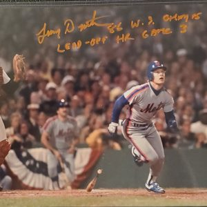 Lenny Dykstra Autographed 8x10 Photo Inscription 86 WS Champs Lead Off HR Game 3 ORANGE