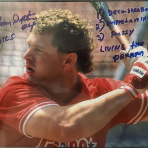 Lenny Dykstra Autographed 8x10 Photo Inscription Drugs Pussy Living The Dream
