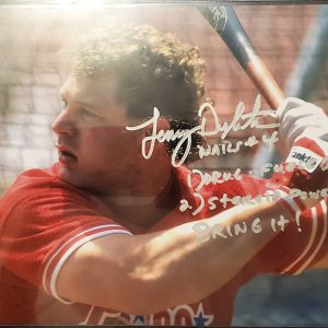 Lenny Dykstra Autographed 8x10 Photo Inscription Drugs Steroids Bring It SILVER