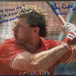Lenny Dykstra Autographed 8x10 Photo Inscription You Want Me Im Right Here Mother Fucker
