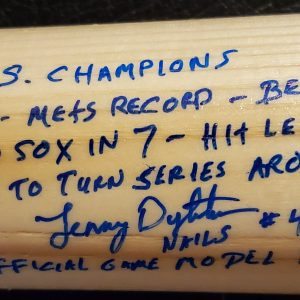 Lenny Dykstra Autographed Louisville Slugger 1986 World Series Game Model Bat 2