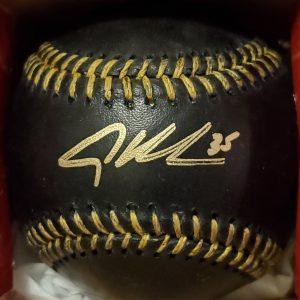 Adley Rutschman Autographed Black Baseball 2