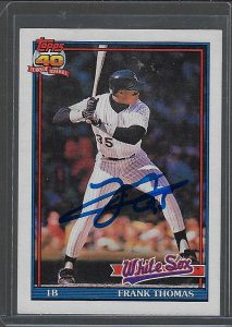 Frank Thomas 1991 Topps #79 Autographed Card