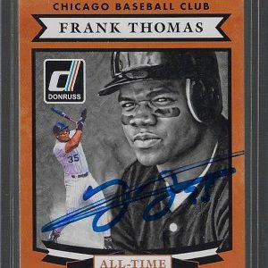 Frank Thomas Autographed 2015 Panini Donruss Diamond Kings #4