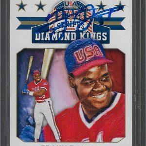 Frank Thomas Autographed 2015 Panini USA Baseball Stars and Stripes Diamond Kings #2