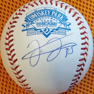 Frank Thomas Autographed Comiskey Inaugural Year Baseball 1