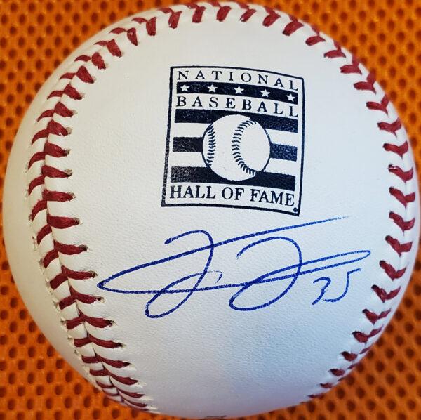 Frank Thomas Autographed HOF Baseball Under Logo 1
