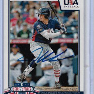 Adley Rutschman 2019 Panini USA Baseball Stars and Stripes #9 Autographed Card