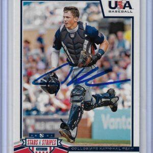 Adley Rutschman 2019 Panini USA Baseball Stars and Stripes #92 Autographed Card