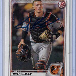 Adley Rutschman 2020 Bowman Draft #BD-154 Autographed Card