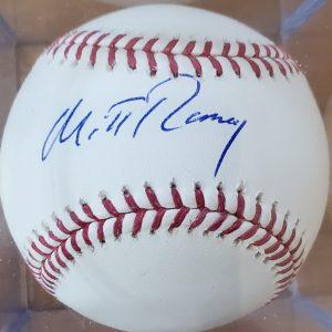 Mitt Romney Autographed Baseball OMLB 1a