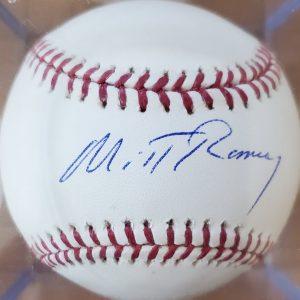 Mitt Romney Autographed Baseball OMLB 3a