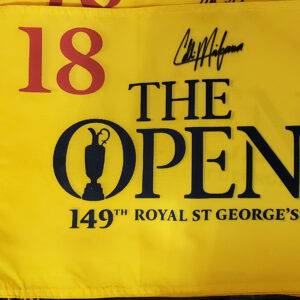 149th Royal St George's Pin Flag Yellow Autographed