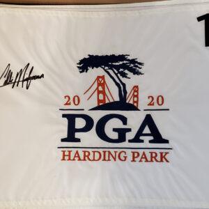2020 PGA Championship Embroidered Pin Flag Autographed